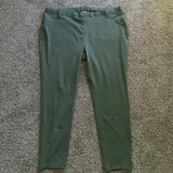 be5cb3c2efad6 Faded Glory Pants | Plus Size Jegging Olive Khaki 4x | Poshmark